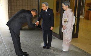 president bows to emperor