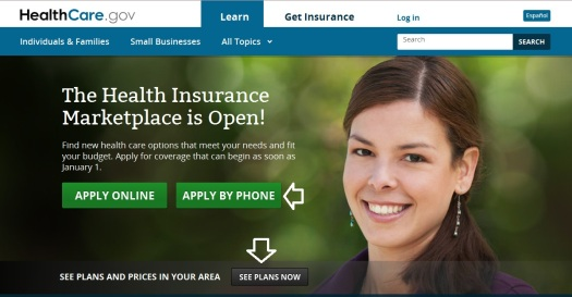 A few changes to the Obamacare website welcome page