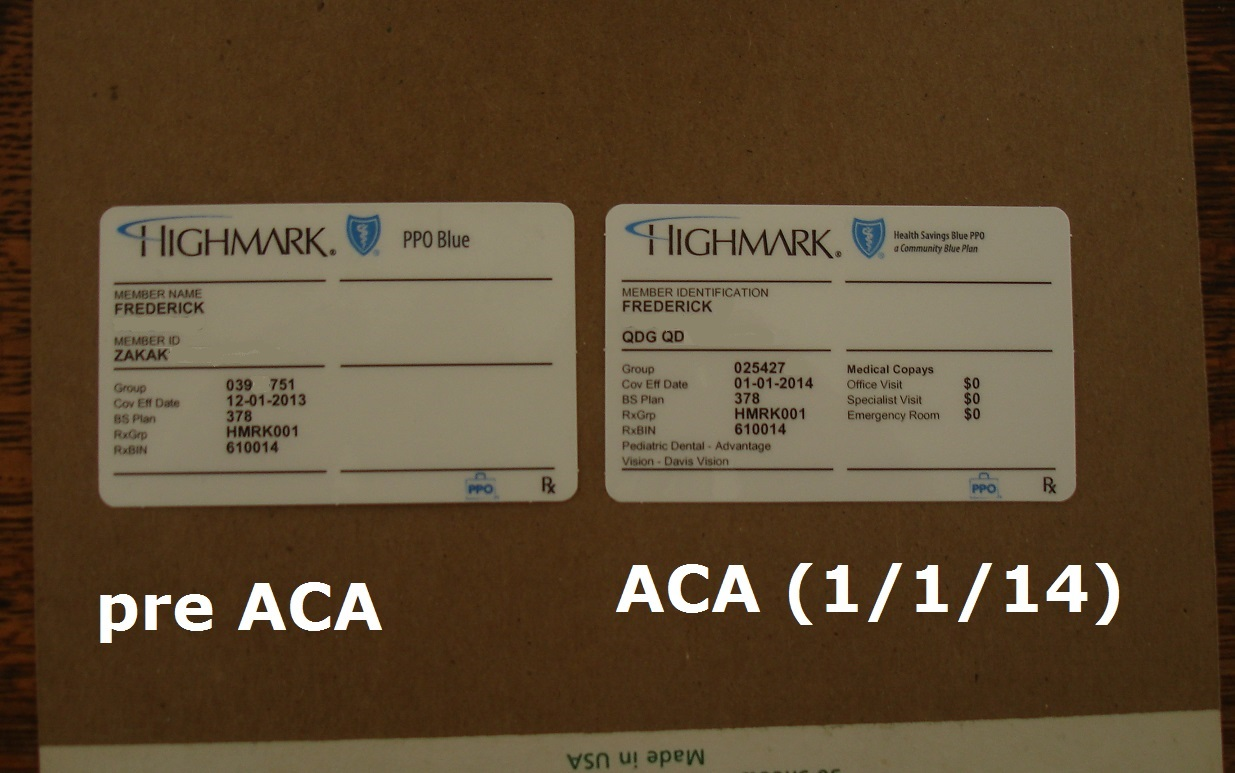 Affordable Care Act becomes real  Very real  But notice one big way
