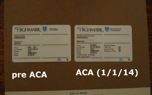 Affordable Care Act becomes real.   Very real.   But notice one big way there's no difference?